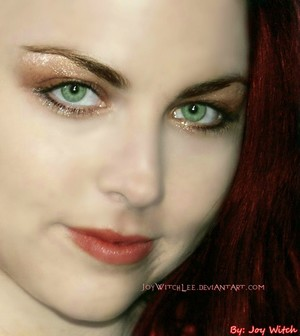 Amy Lee with red hair