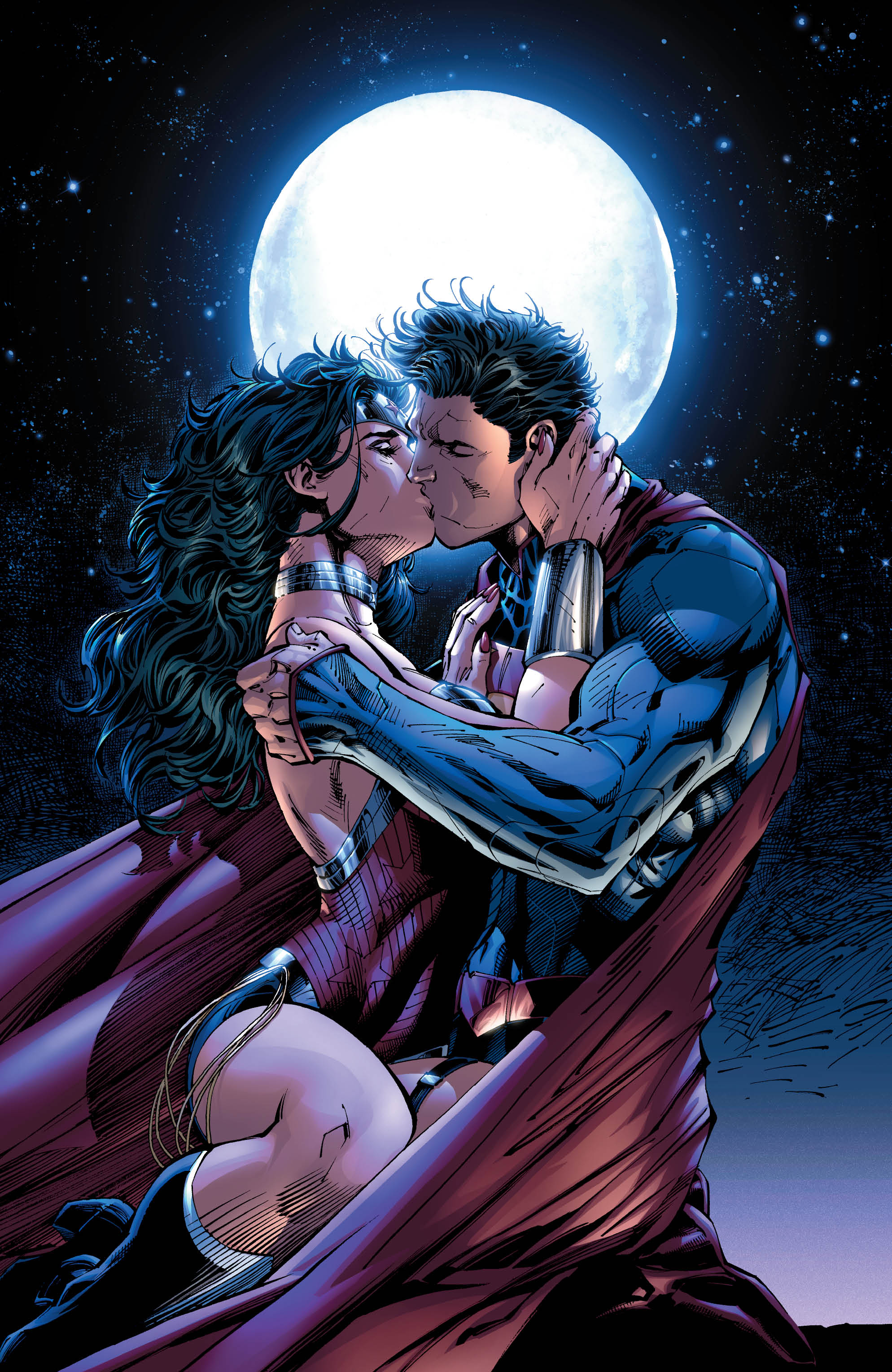 Wonderwoman and batman in love