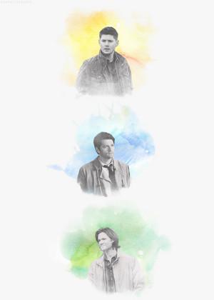 Sam, Dean and Castiel