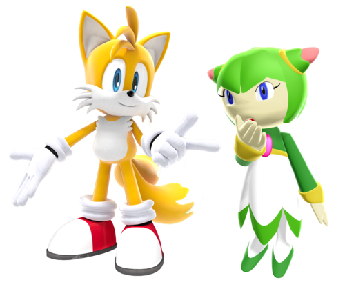 Tails and cosmo in the videogames tails and cosmo fan art