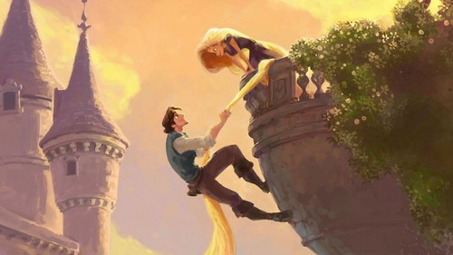 Tangled kertas dinding called Tangled Rapunzel and Eugene