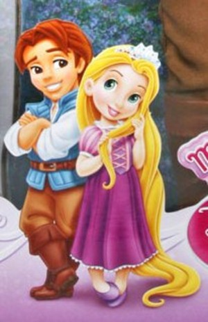 Little Flynn Rider and Rapunzel
