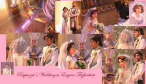 disney Rapunzel and flynn wedding