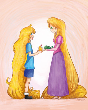 finn and rapunzel