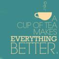Tea makes everything better:):)