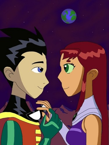 Teen titans images star and robin wallpaper and background photos teen titans wallpaper with anime called star and robin voltagebd Image collections