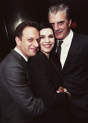 Josh Charles, Julianna Margulies and Chris Noth - CBS Pre-Golden Globes Party on January 11