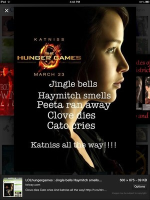 Funny jingle bells version of hunger games