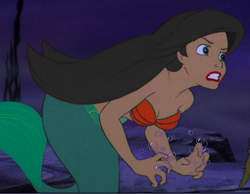 The little mermaid (Brunette Ariel)