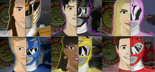 The Power Rangers wallpaper containing a totem pole titled Mighty Morphin Power Rnagers Season 2-3