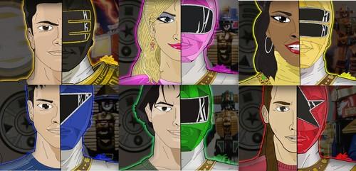 The Power Rangers karatasi la kupamba ukuta called Power Rangers Zeo