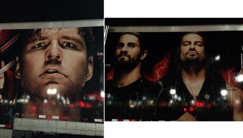 The Shield (WWE) wallpaper probably containing a newspaper and a sign entitled The Shield on the WWE Truck