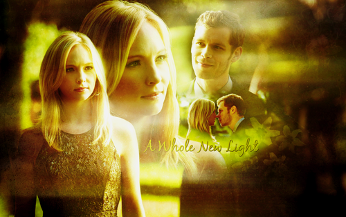 The Vampire Diaries TV Show wallpaper possibly containing a portrait called Klaus and Caroline
