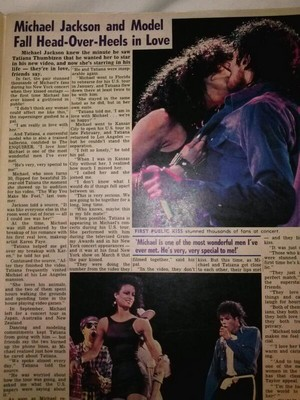 Newspaper about Michael and Tatiana