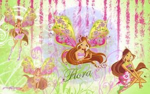 Flora kertas dinding