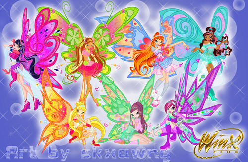 The Winx Club پیپر وال entitled Winx Club Dreamix