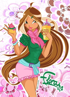Flora Winx Cafe Style