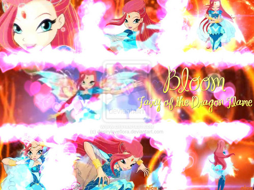 o clube das winx wallpaper entitled Bloom Bloomix Transformation Wallpaper.