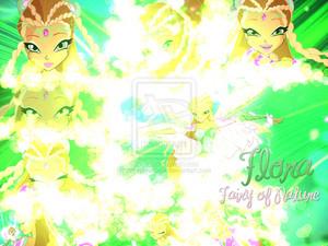 Flora Bloomix Transformation Wallpaper.