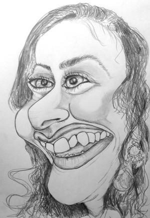 Ana Kasparian Caricature