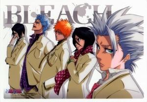 Toshiro Hitsugaya, Uryu Ishida, Grimmjaw, Ichigo Kurosaki and Rukia Kuchiki
