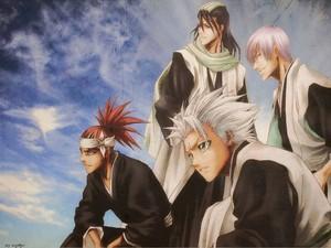 Toshiro, Renji, Byakuya and شراب, ٹھیکی