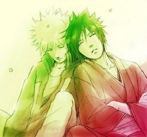 Sasuke and Наруто
