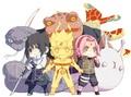 Sasuke, Naruto and Sakura
