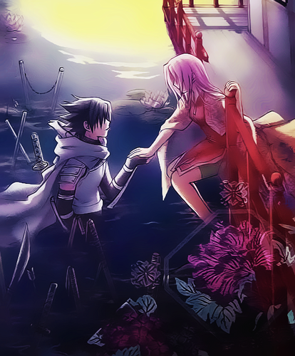 sasuke and sakura and background with entitled sasuke and sakura voltagebd Image collections