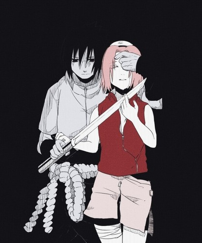 Sasuke Ichiwa fond d'écran probably with a lippizan entitled Sasuke and Sakura