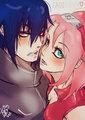 Sasuke and Sakura - uchiha-sasuke fan art