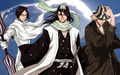 Uryu Ishida and Byakuya and Urahara