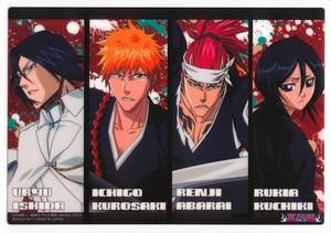 Uryu Ishida, Ichigo Kurosaki, Renji Abarai and Rukia Kuchiki