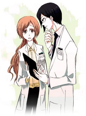 Uryu Ishida and Orihime Inoue