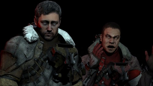 Video Games achtergrond containing a green beret, a rifleman, and a navy zeehond, seal called Isaac Clarke and John Carver: Dead Space 3