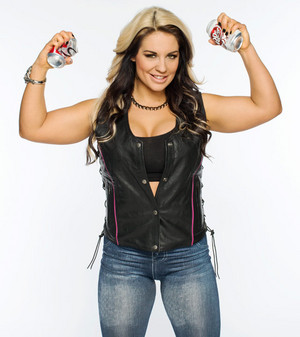 Kaitlyn as 'Stone Cold' Steve Austin