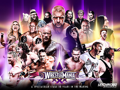 WWE Hintergrund entitled WWE Wrestlemania - 30 years in the making