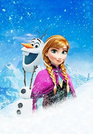 Walt Disney Posters - Olaf & Princess Anna
