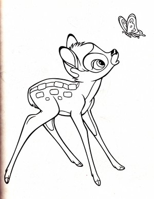 Walt 디즈니 Coloring Pages - Bambi