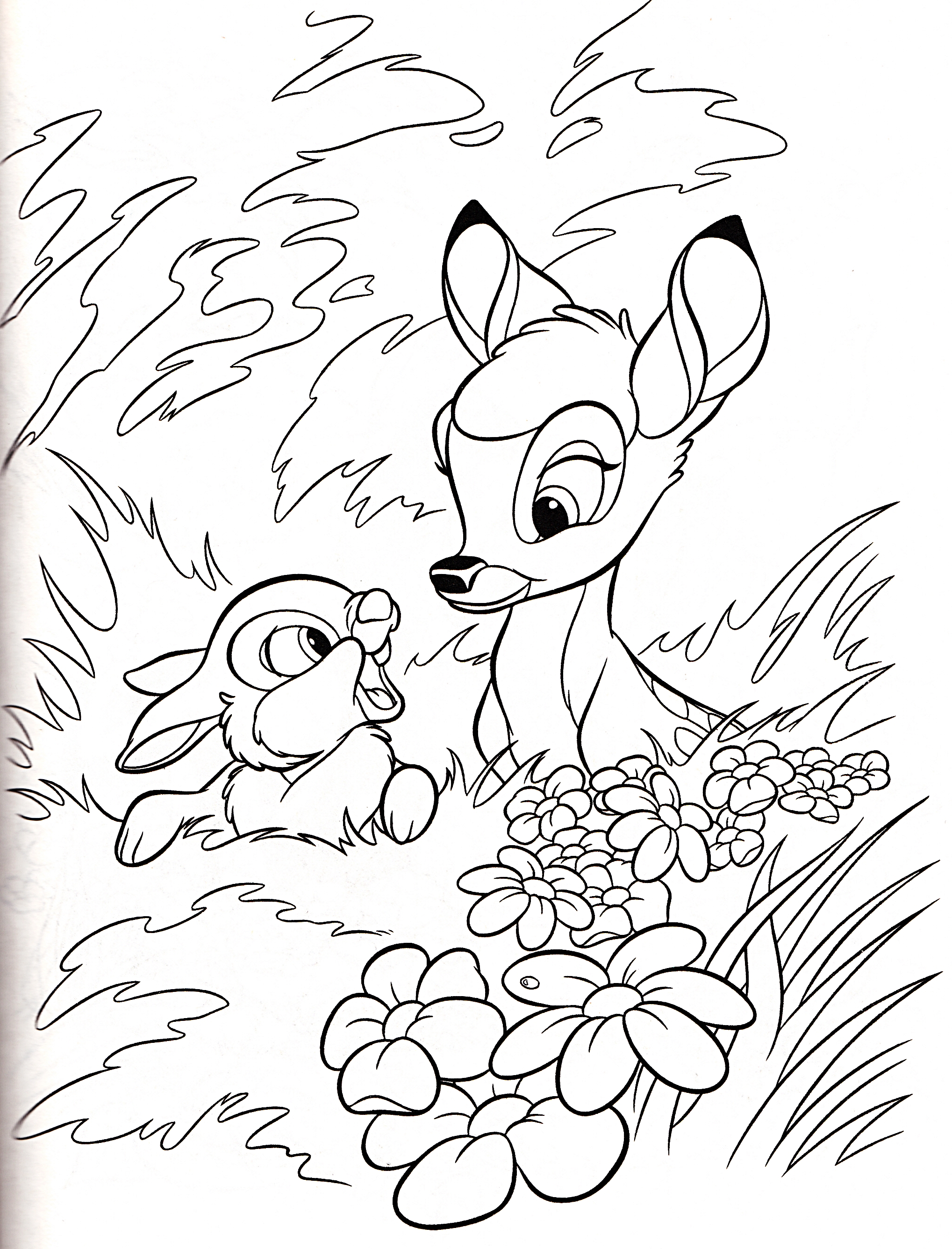 Walt disney coloring pages thumper bambi walt disney characters photo 36401007 fanpop - Coloriage disney ...