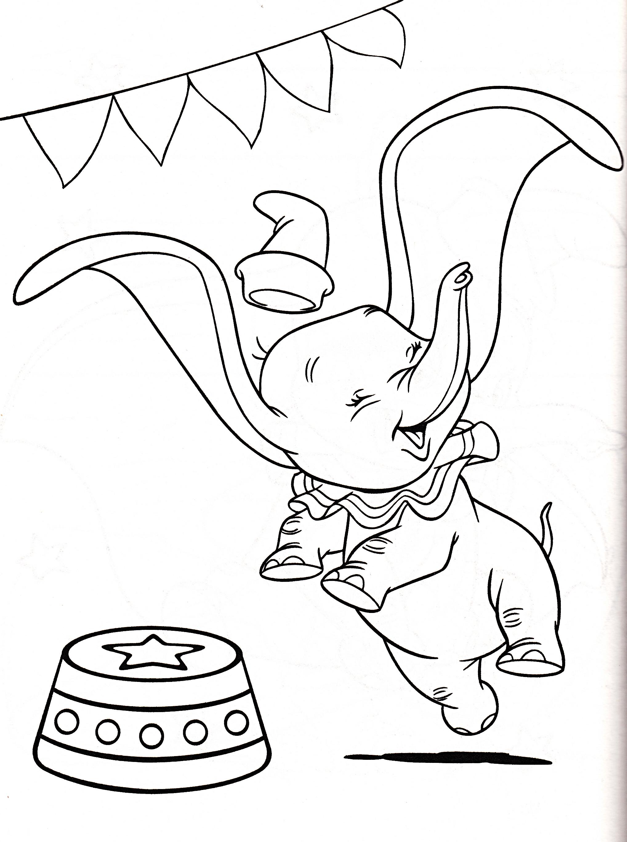 Walt Disney Coloring Pages Dumbo Walt Disney