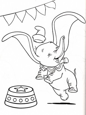 Walt Disney Coloring Pages - Dumbo