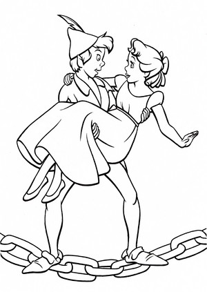 Walt disney Coloring Pages - Peter Pan & Wendy Darling
