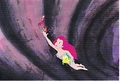 Walt Disney Production Cels - Sebastian, Princess Ariel & patauger, plie grise
