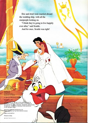 Walt Disney Book Images - The Priest, Prince Eric, Princess Ariel, Scuttle & King Triton