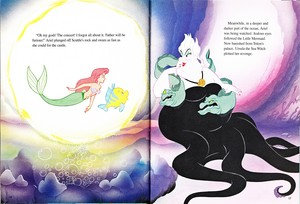 Walt Disney Book تصاویر - Princess Ariel, Flounder, Flotsam, Ursula & Jetsam