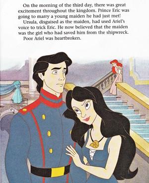 Walt Disney Book picha - Prince Eric, Vanessa & Princess Ariel