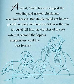 Walt Disney Sketches - Princess Ariel & Ursula