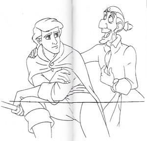 Walt Disney Sketches - Prince Eric & Sir Grimsby