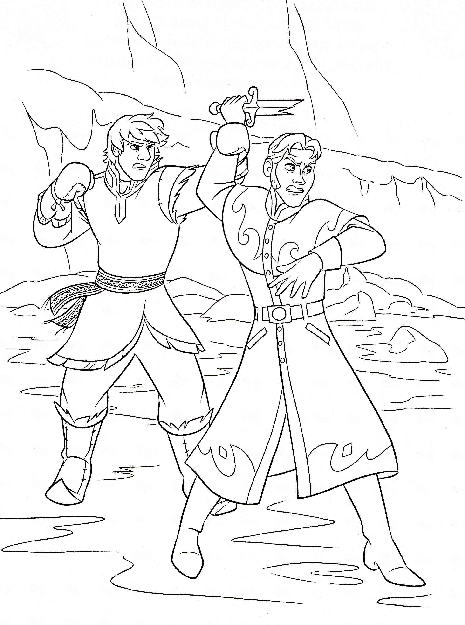 Free Frozen Coloring Pages Kristoff : Walt disney coloring pages kristoff bjorgman prince